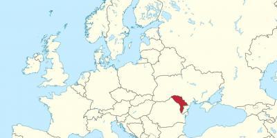 Est Europa Cartina.Moldova Mappa Mappe Moldova Europa Dell Est Europa